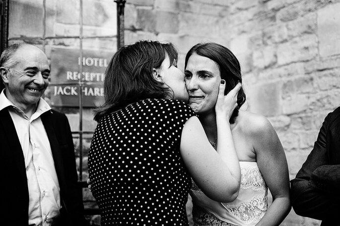 Momentos conmovedores antes de la boda. Foto: Kevin Mullins Photographer