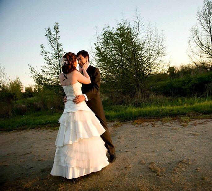 Robe de mariée à volants de Fran Vallejos