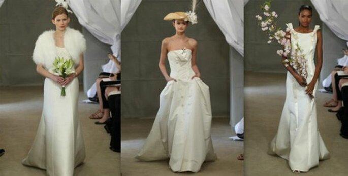 Abiti strutturati adatti a qualunque stagione di nozze! Carolina Herrera Spring 2013