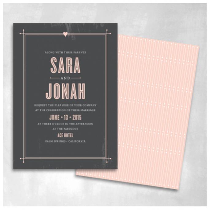 Colores dramáticos sobre bases cálidas y diseños minimalistas - Foto Smitten On Paper