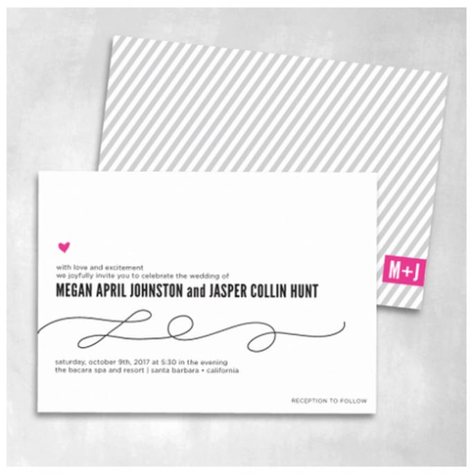 Elige un diseño en color negro con rayas y diversos diseños de tipografía - Foto Smitten On Paper