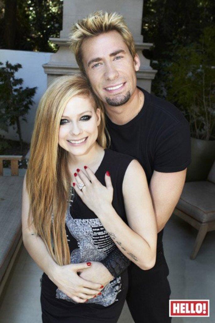 Avril Lavigne y Chad Kroeger se comprometieron en 2012 - Foto Hello! Facebook