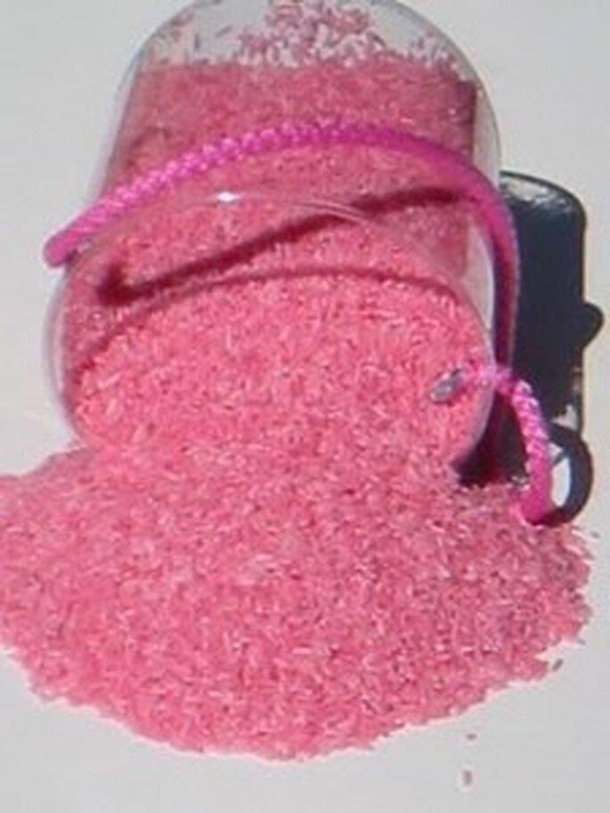 Arroz para bodas color rosa