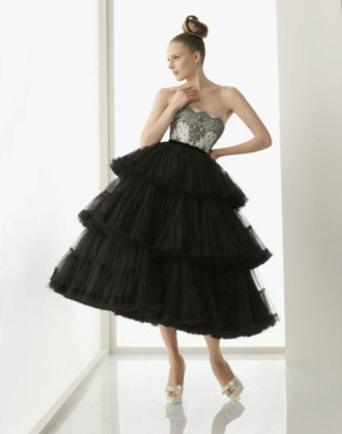 Vestido de novia de Rosa Clará en tul negro- Foto: Rosa Clará