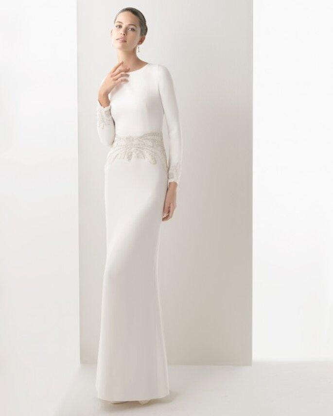 Vestido de novia que usó la diseñadora en su boda - Foto Rosa Clará
