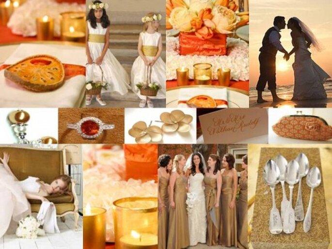 Colori e caldi per una cerimonia d'autunno