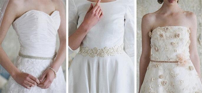 Cintos para vestidos de novia estilo vintage - Foto: Ruche