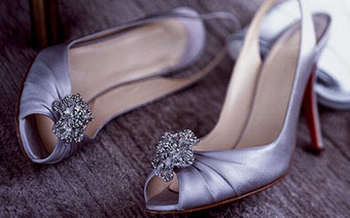 zapatos morados para vestido de novia