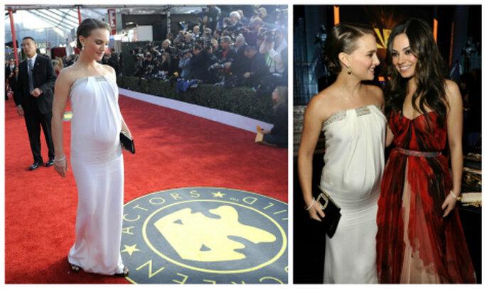 Una splendida Natalie Portman in attesa del suo primogenito, calca il red carpet della 17esima edizione dei SAG Awards.