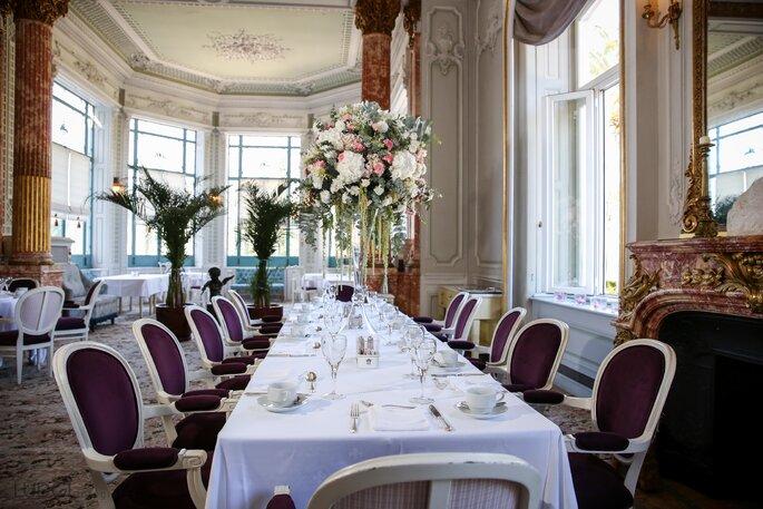 Pestana Palace Lisboa com decoração floral por My Wedding Flowers. Foto: Ludgi Fotógrafos