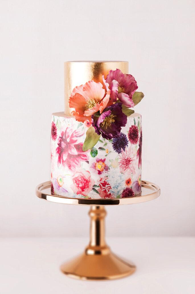 10 ideas geniales para que tu boda sea la más colorida - Cake Ink