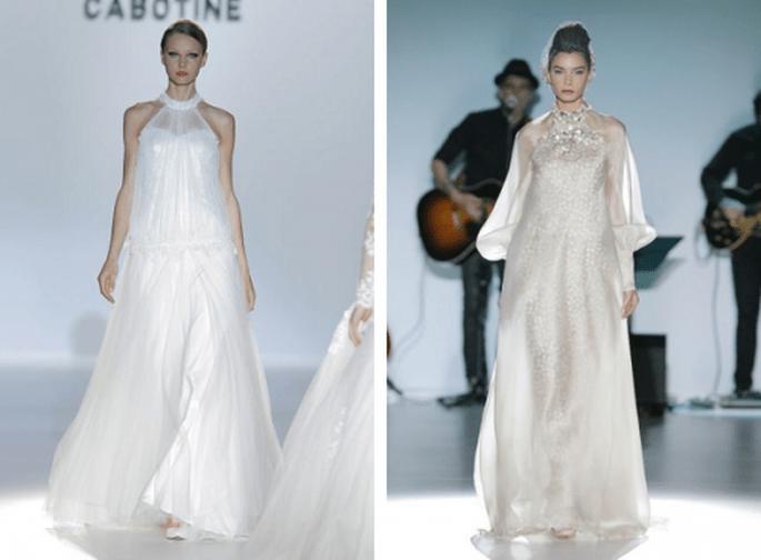 Vestidos de novia 2014 con estilo hippie - Fotos Isabel Zapardiez y Cabotine