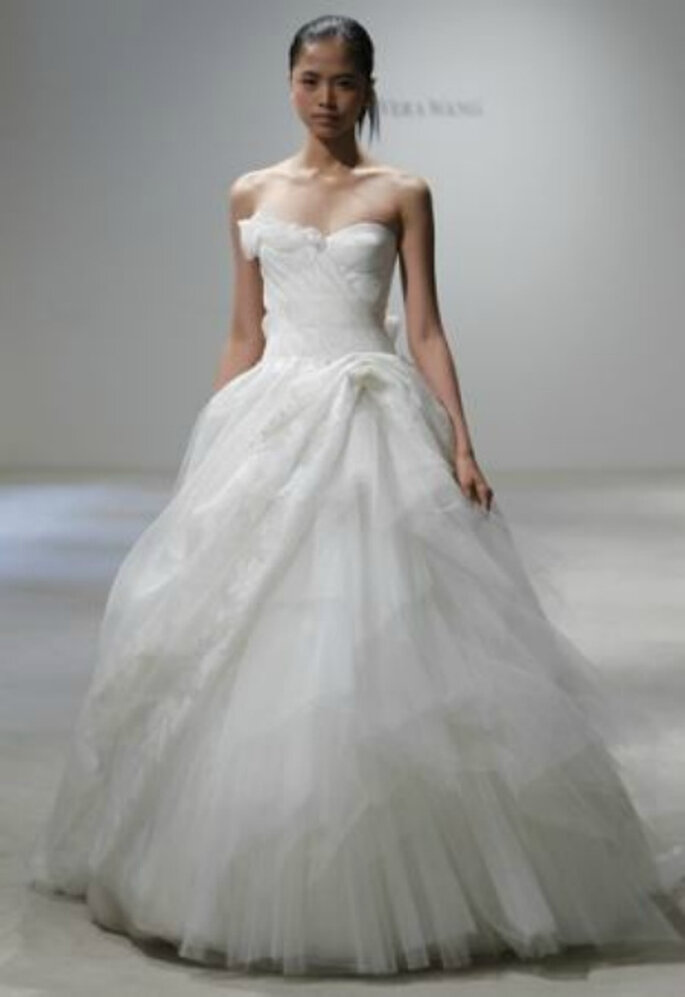 Vestido de novia con corsé de Vera Wang