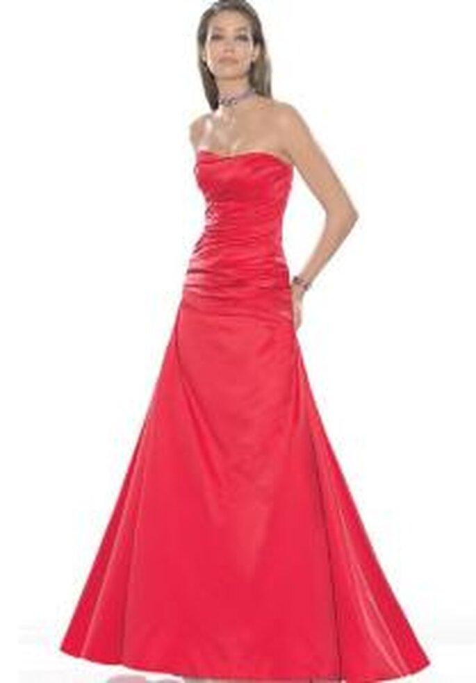 La Sposa 2009 - Vestido rojo largo con escote en palabra de honor, corte princesa