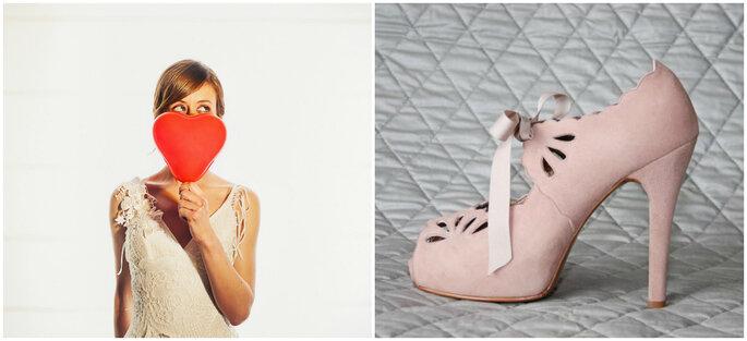 Créditos: zapatos de Catú Shoes/ foto de novia de Cherry Waves