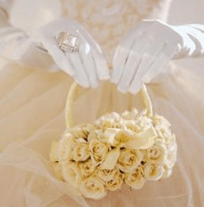 Un bouquet a borsetta bianco...