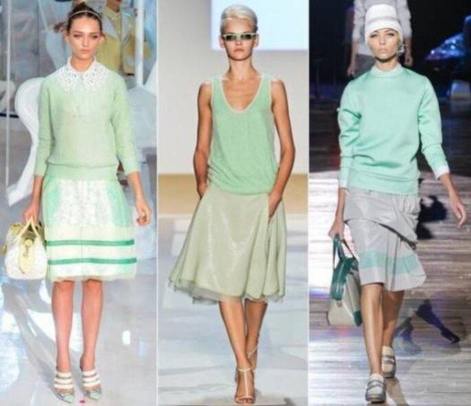 De izquierda a derecha: Louis Vuitton, Diane Von Furstenberg, Marc Jacobs