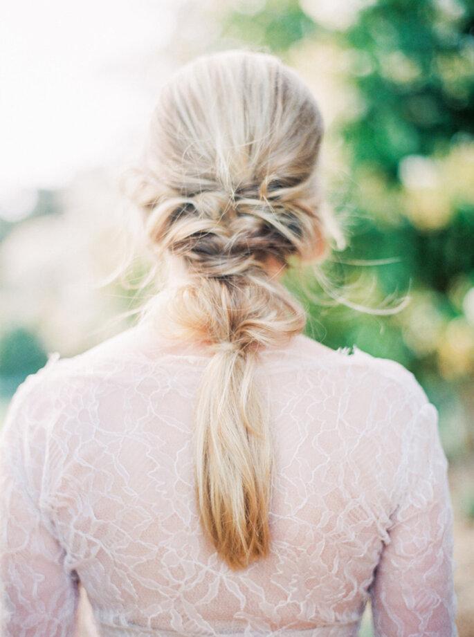 Peinado de novia.