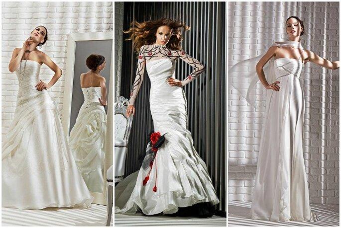 Audace ma anche romantica la Collezione FOREVER 2013 di Gritti Spose. Foto My Style s.r.l.