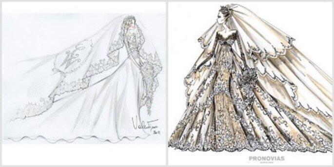 Diseños de Valentino y Pronovias para Kate Middleton