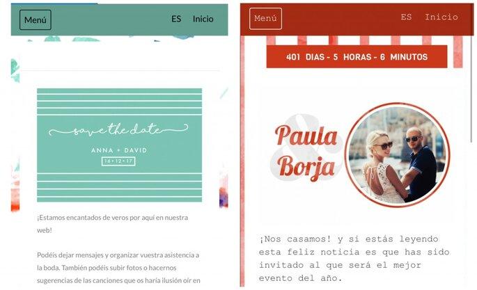 Tu web de boda personalizada