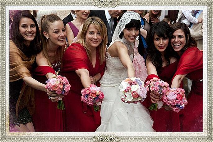 El vestido de novia y las damas de honor de REC 3 son un diseño de Rosa Clará. Foto: Rosa Clará