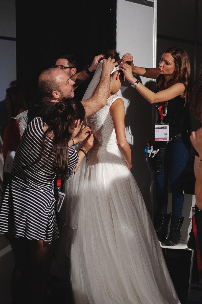 Backstage Barcelona Bridal Week 2014