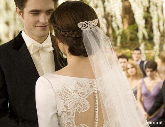 Brautfrisur von Bella Swan aus dem Film Twilight - Breaking Dawn Teil I - Foto: Summit Entertainment