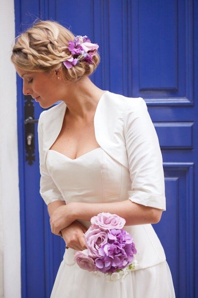 Robe de mariée Boléro de mariée Les Corsets d'Aëlle 2013- Photo : Florence Akouka - FleurdeSucre photographie