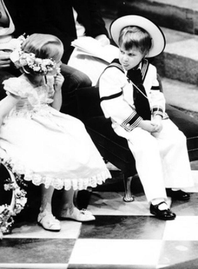 Prinz William als Page bei der Hochzeit des Herzogs und der Herzogin von York