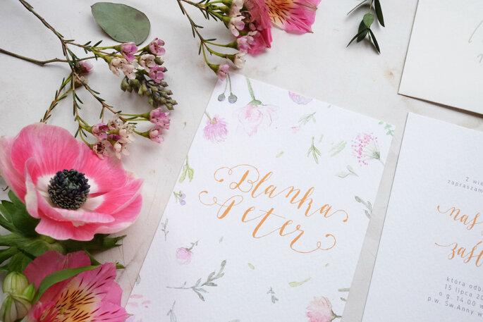 zaproszenia Love Prints letnie