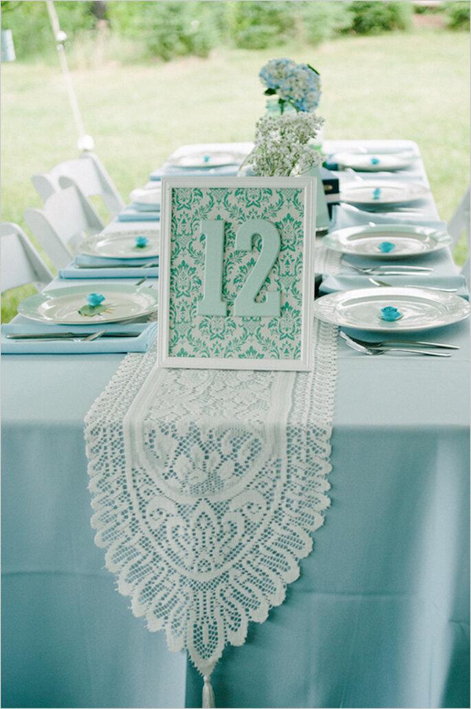 Indicadores de mesa originales para el montaje de tu banquete - Foto The McCartneys Photography