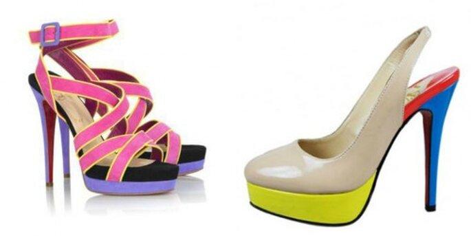 Tendencias en Zapatos primavera verano 2012 para una boda de día. Foto Christian Louboutin