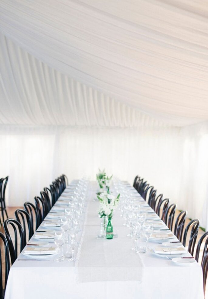 Un montaje perfecto para boda minimalista - Foto The Loved Ones