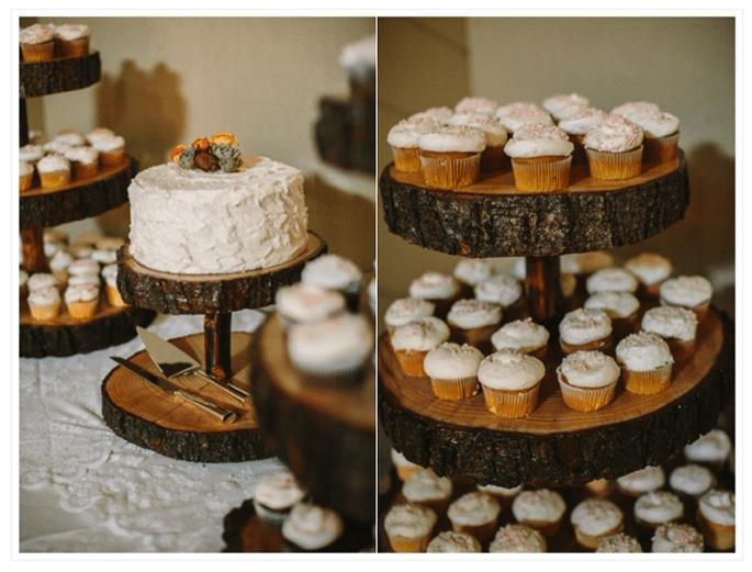 Los mejores pasteles de boda con estilo rústico - Foto Danielle Capito