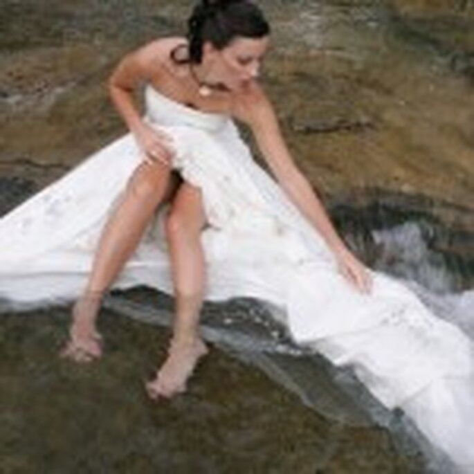Trash the dress in the river