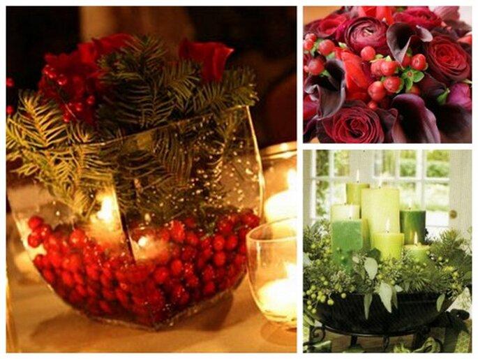 Izquierda fotos Ramblin Rose Photography via The Knot. Arriba derecha foto via wedding aces. Abajo derecha, foto vía Wedding Planning 101
