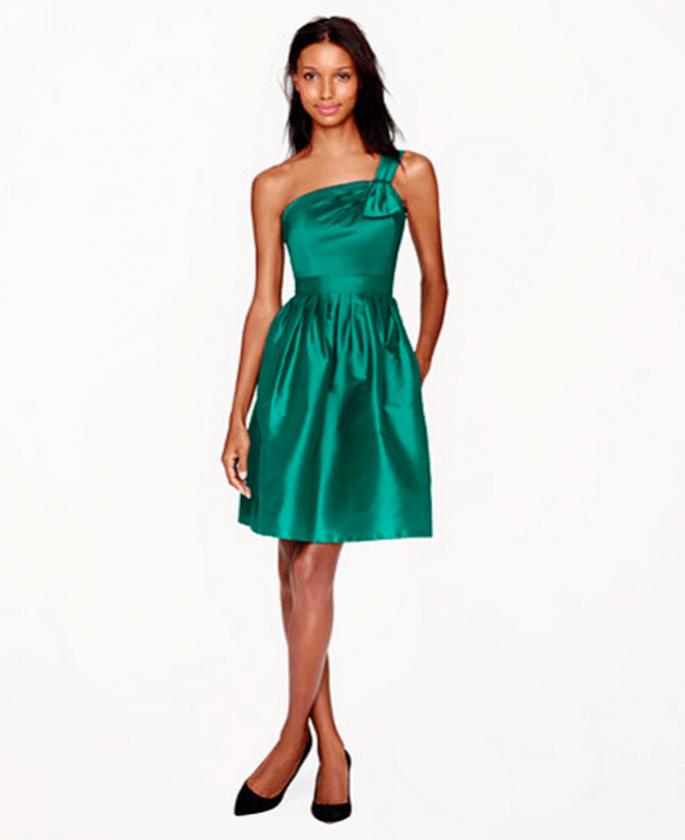 Vestido de fiesta en color verde para dama de boda - Foto JCrew