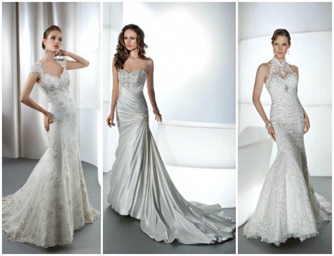 Tres modelos estilo sirena. Fotos: wwwdemetriosbride.com