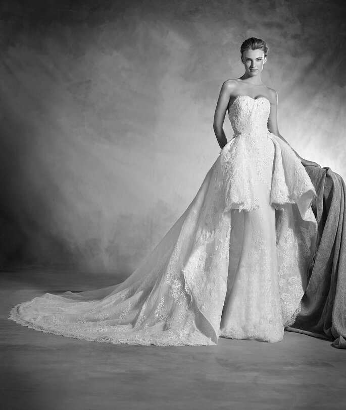 7 vestidos de noiva, 7 noivas diferentes:  ao estilo Hollywood!   Modelo Nancy de Pronovias