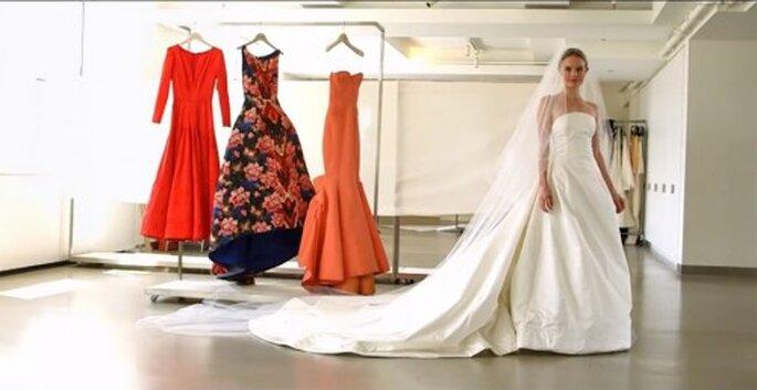 Kate Bosworth eligió un vestido de novia del diseñador Oscar de la Renta - Foto Vogue YouTube