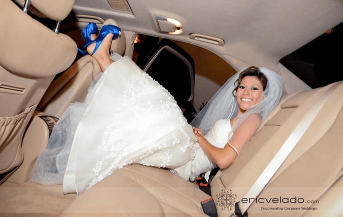 niebieskie buty na ślub