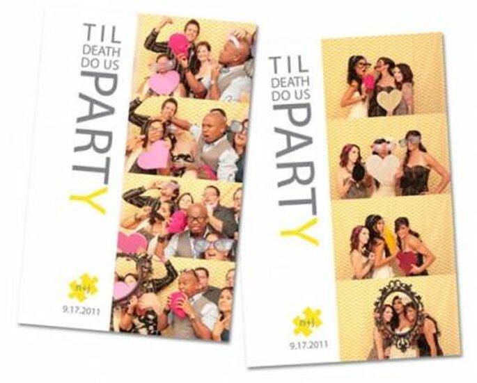 Depués de la fiesta puedes hacer tarjetas de agradecimiento por la asistencia con las fotos.