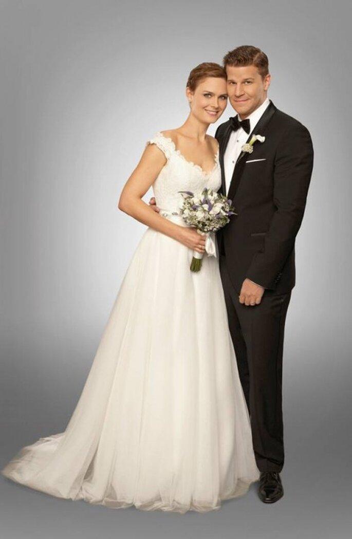 """La boda de Booth y Brennan de la serie """"Bones"""" - Foto FOX"""