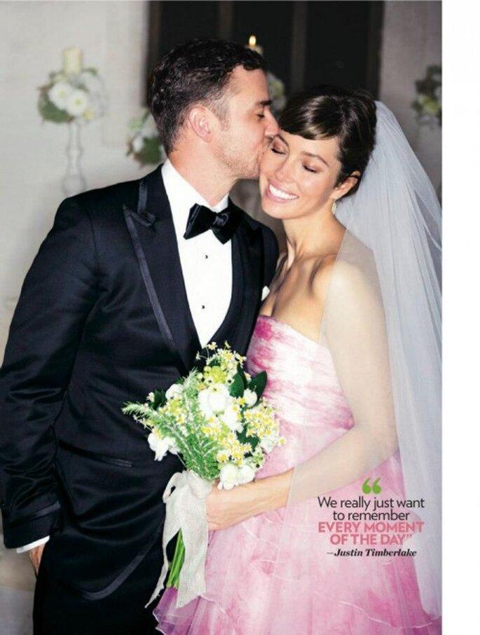 El look de Justin Timberlake y Jessica BieFacebookl en su boda - Foto Tom Ford
