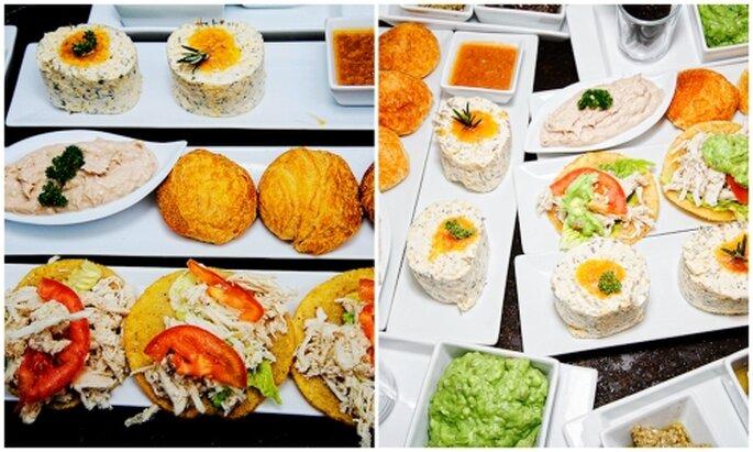 Banquete de comida yucateca para boda. Fotografía de Jaime Glez