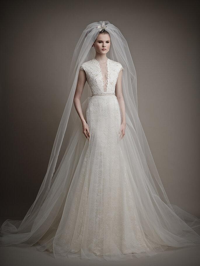 El vestido de novia ideal para chicas con poco busto - Ersa Atelier 2015