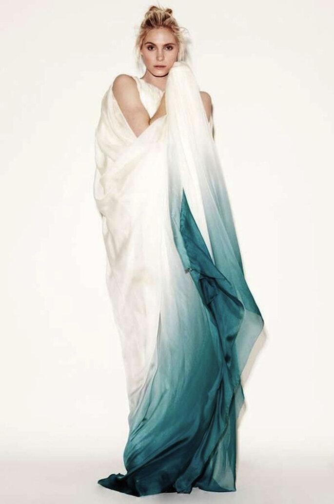 Vestidos de noiva tie dye.