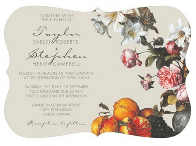 Colección exclusiva de invitaciones de boda de Claire Pettibone - Foto Wedding Paper Divas