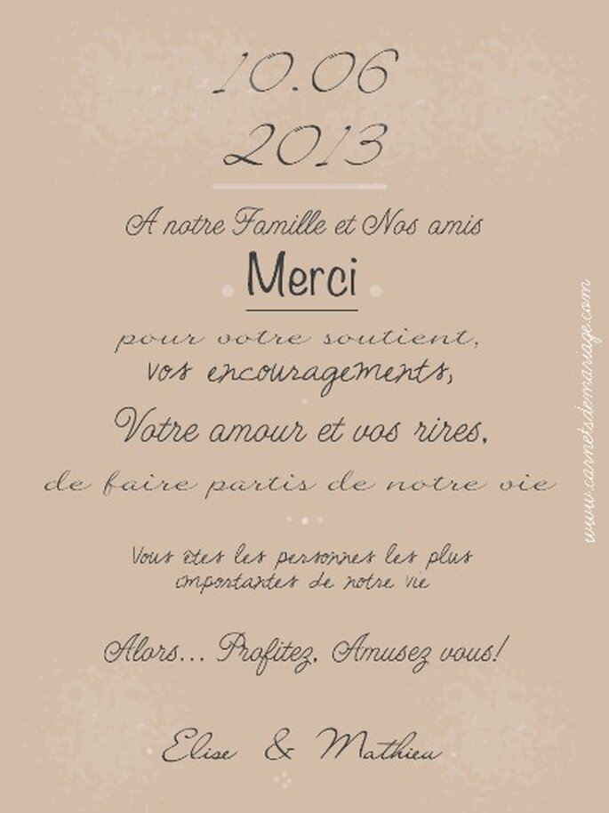 Foto: Carnets de Mariage